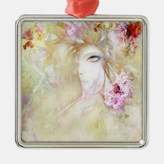 Floral Angel Christmas Ornament