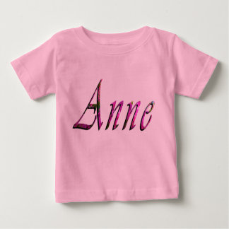 Floral Anne Name Logo, Baby T-Shirt