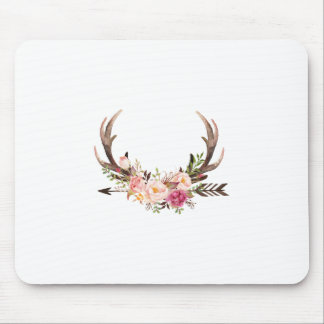 Floral antlers mouse mat