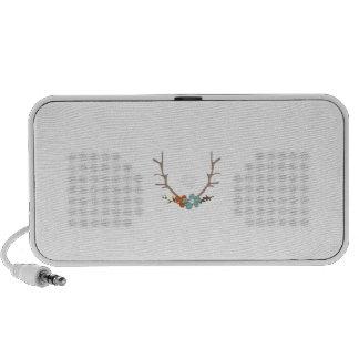 Floral Antlers Mp3 Speaker