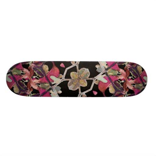 Floral Arabesque Decorative Artwork Skate Decks