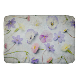 Floral arrangement bath mat