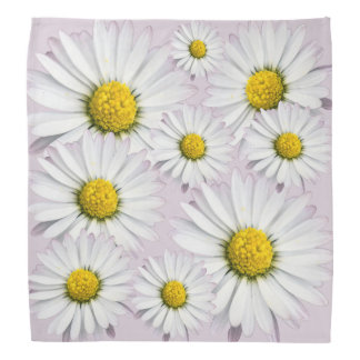 Floral arrangement of white and yellow daisies bandana