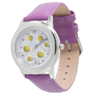 Floral Arrangement of White and Yellow Daisies Wristwatch