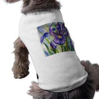 Floral Art Sleeveless Dog Shirt