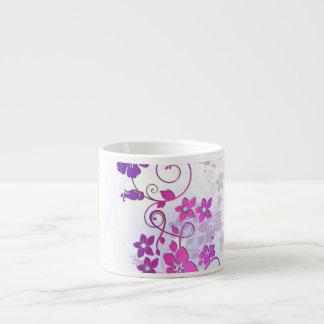Floral Art Espresso Cups