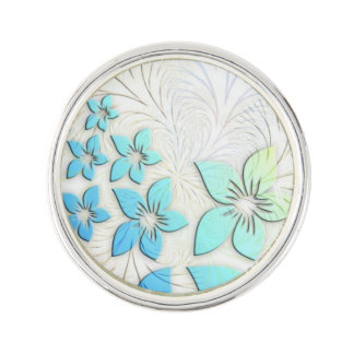 Floral Art Lapel Pin
