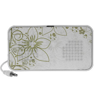 Floral Art Laptop Speakers