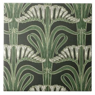 Floral Art Nouveau design Tile