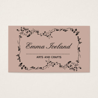 Floral art nouveau vintage rose business card