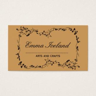 Floral art nouveau vintage style business card