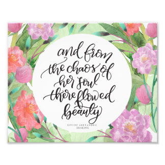 Floral Art Quotes Wall Decor Photo Art
