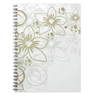 Floral Art Spiral Note Books