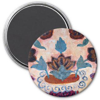 Floral Artwork at Amber Fort (1) Fridge Magnet