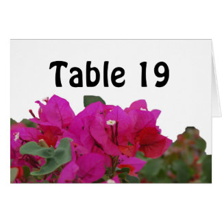 Floral Assigned Seating Table Tent Cards