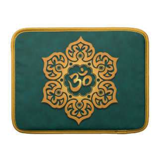 Floral Aum Design, golden teal MacBook Air Sleeve