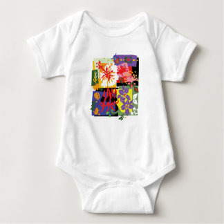 Floral - Baby jersey bodysuit