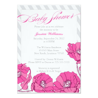Floral Baby Shower Personalized Announcement