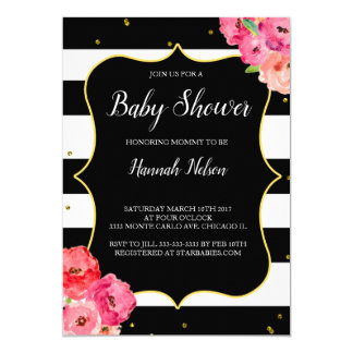 FLORAL BABY SHOWER INVITATION ELEGANT BABY