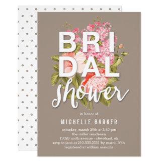 Floral Backdrop EDITABLE COLOR Bridal Shower Card