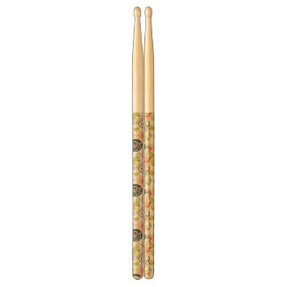 Floral background 2 drumsticks