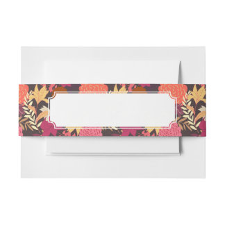 Floral background 2 invitation belly band