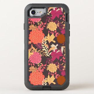 Floral background 2 OtterBox defender iPhone 8/7 case