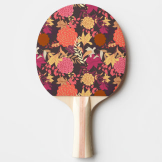 Floral background 2 ping pong paddle