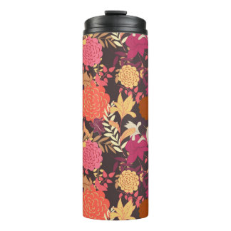 Floral background 2 thermal tumbler