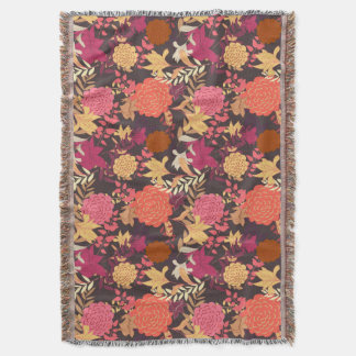 Floral background 2 throw blanket
