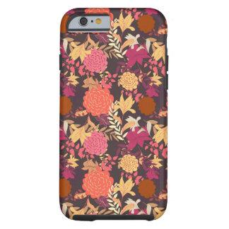 Floral background 2 tough iPhone 6 case