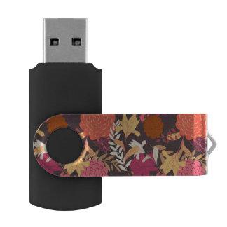 Floral background 2 USB flash drive
