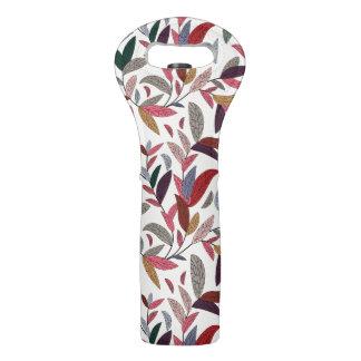 Floral background 2 wine bag