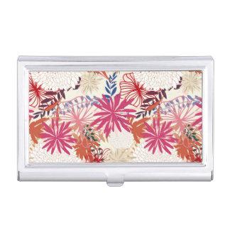 Floral background 3 business card holder
