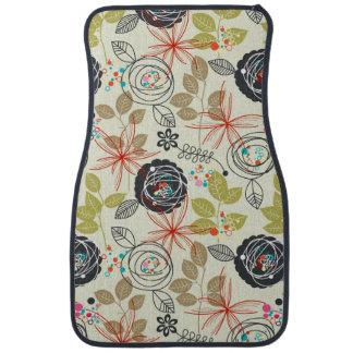 Floral background 3 car mat