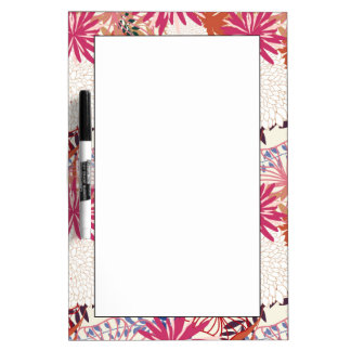 Floral background 3 dry erase board