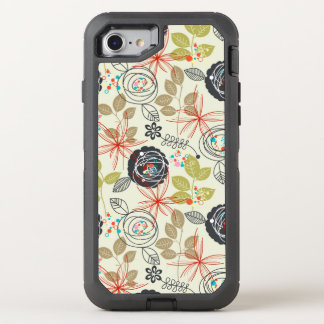 Floral background 3 OtterBox defender iPhone 8/7 case