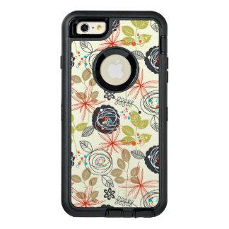 Floral background 3 OtterBox defender iPhone case