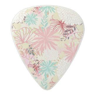 Floral background 4 acetal guitar pick