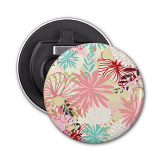 Floral background 4 bottle opener