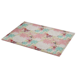 Floral background 4 cutting board