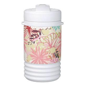 Floral background 4 drinks cooler