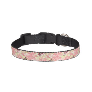 Floral background 4 pet collar