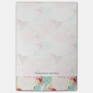Floral background 4 post-it notes