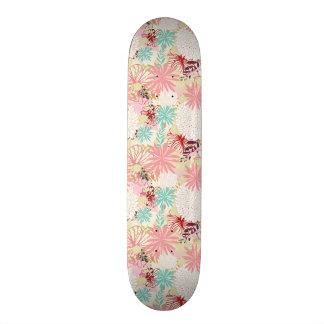 Floral background 4 19.7 cm skateboard deck