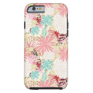 Floral background 4 tough iPhone 6 case