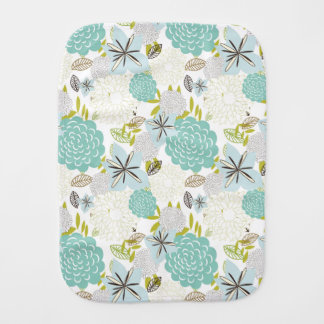 Floral background 5 burp cloth
