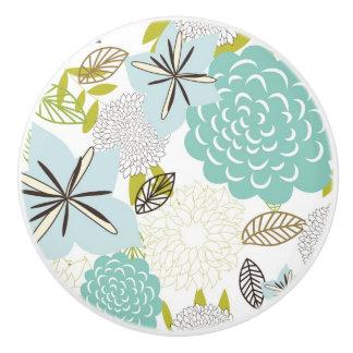 Floral background 5 ceramic knob