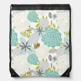 Floral background 5 drawstring bag