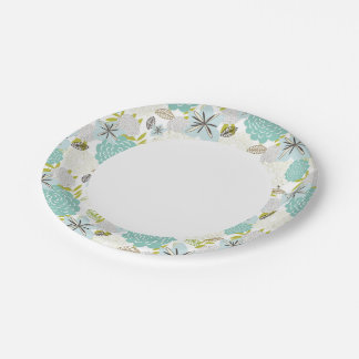 Floral background 5 paper plate